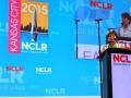 Janet Murguía, presidenta de NCLR durante el discurso de bienvenida a la Conferencia anual de la organización.