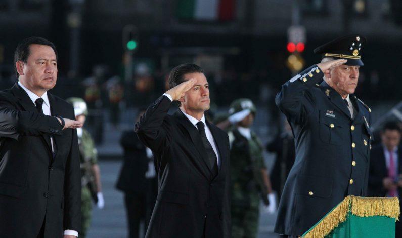 Peña Nieto conmemoró a víctimas del sismo de 1985