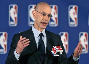Adam Silver, comisionado de la NBA. Foto: AP