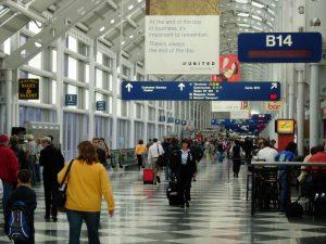 Los aeropuertos internacionales O'Hare y Midway son de gran volumen de tráfico. Foto: AP
