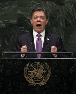 Juan Manuel Santos habló hoy ante la Asamblea General de las Naciones. Foto: AP