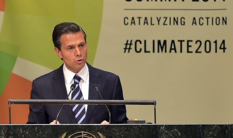 México participará en acciones de paz de la ONU, anuncia Peña Nieto