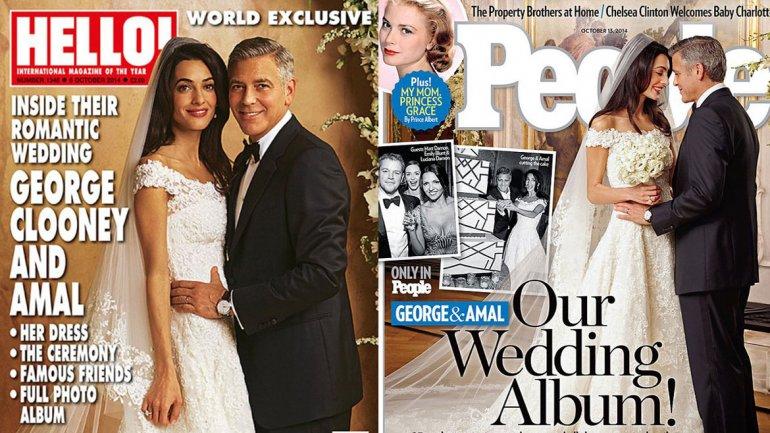 Publican fotos oficiales de la boda de Clooney y Amal