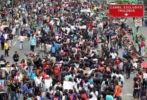 Se prevé que la movilización parta de la Plaza de las Tres Culturas hasta llegar al Zócalo capitalino. Foto: Agencia Reforma / Archivo