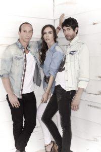 Erik, Sasha y Benny viajaron hasta Francia para trabajar el disco. Foto: Suministrada