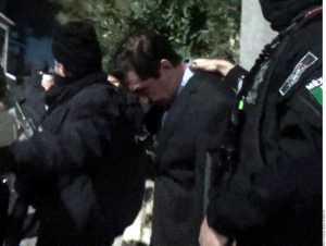 El ex Alcalde de Iguala, José Luis Abarca Velázquez, fue detenido el martes en un domicilio en Iztapalapa. Foto: Agencia Reforma