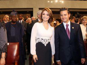 Angélica Rivera y el presidente Enrique Peña Nieto. Foto: Notimex