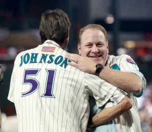 Randy Johnson y Curt Schilling, ex lanzadores de los D-backs, aspiran a Cooperstown.