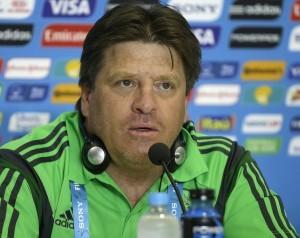 Miguel Herrera, técnico de la selección mexicana de fútbol. Foto: AP