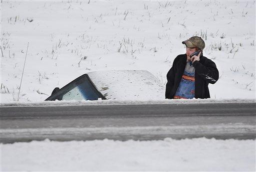 Primera gran nevada azota Nueva York