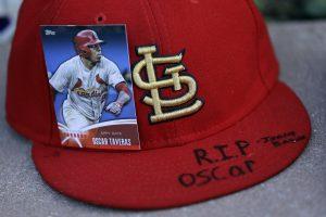 Oscar Taveras, de 22 años, era uno de los principales prospectos de las Grandes Ligas. Foto: AP