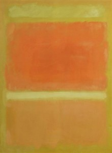 "La pintura de Mark Rothko de 1955 ""Sin título (naranja, amarillo, naranja claro)"", del patrimonio de Rachel ""Bunny"" Mellon. Foto: AP"