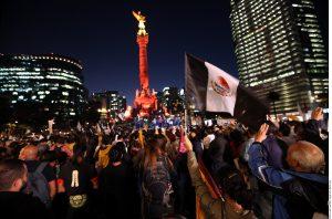 La marcha fue encabezada por padres de algunos de los desaparecidos y normalistas de Ayotzinapa. Foto: Agencia Reforma