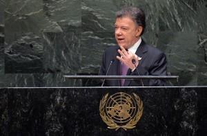 El presidente colombiano Juan Manuel Santos suspendió el 17 de noviembre pasado las pláticas, luego del secuestro de dos militares y un civil. Foto: Notimex