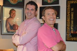 Julio César Chávez junto al director de la Codeson, Vicente Sagrestano. Foto: Codeson