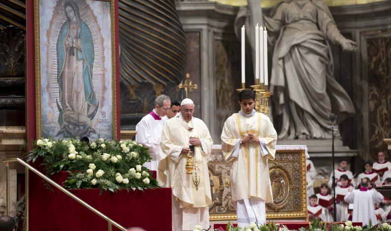 Celebra en grande el Vaticano a la Virgen de Guadalupe