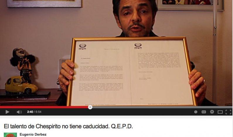 Eugenio Derbez y su gran anécdota con Roberto Gómez Bolaños