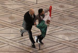 Adán Cortés Salas interrumpió la ceremonia de entrega del premio Nobel de la Paz en Oslo.