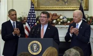Barack Obama, Ashton Carter, Joe Biden