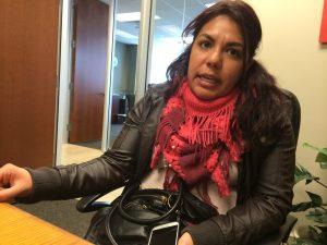 Yadira García, coordinadora de No Dream Deferred, una de las organizaciones que forma parte de la coalición. Foto: Sam Murillo/Mixed Voces
