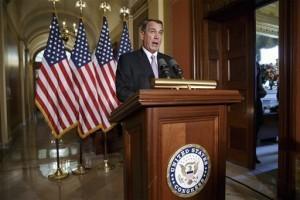 Los republicanos, liderados por John Boehner, se openen intesamente a la medida de Obama. Foto: AP
