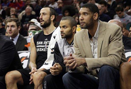 Sin Duncan ni Parker, Spurs dejan a 76ers en 0-17