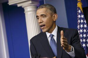Obama emitió su mensaje desde la Casa Blanca después que su administración presentó ante el Congreso una solicitud para que se autorice el uso de la fuerza militar contra el grupo yihadista. Foto: AP