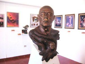 Carlos Pellicer diseñó el Parque Museo La Venta, en Villahermosa, donde se encuentran piezas colosales de la Cultura Olmeca. Foto: Especial