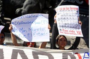El caso Ayotzinapa despertó protestas en el mundo entero a lo largo del 2015. Foto: Agencia Reforma