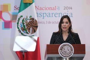 La titular del IFAI, Ximena Puente, acudió a la clausura de la Semana Nacional de la Transparencia. Foto: Notimex