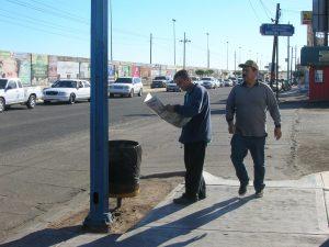 Decenas de migrantes llegan cada día a San Luis Río Colorado para tratar de cruzar a Estados Unidos por la frontera de Arizona. Foto: Notimex