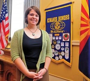 En esta foto del 30 de mayo del 2013 se ve a Kayla Mueller en Prescott, Arizona. Foto: AP