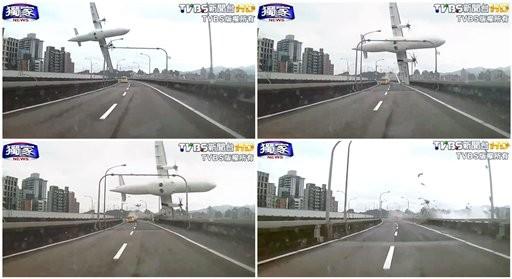Avión con 58 pasajeros se estrella en Taiwán