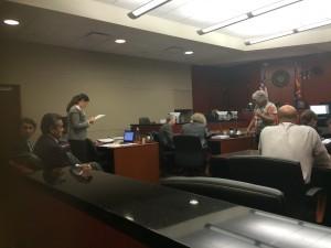 Aspecto de la audiencia en la Corte del Condado Maricopa para determinar el costo de las colegiaturas en los Colegios de Maricopa. Foto: Samuel Murillo