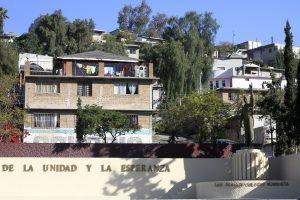 Imagen tomada en la Plaza de la Unidad y la Esperanza, en la colonia Lomas Taurinas, en Tijuana. Foto: Notimex