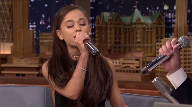 Ariana Grande imitó perfectamente a Celine Dion