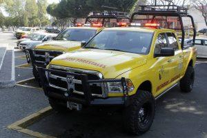 CONAFOR ENTREGA CAMIONETAS EQUIPADAS PARA COMBATIR INCENDIOS