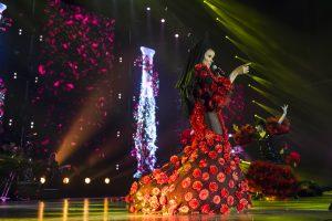 La veracruzana luce gigante en el escenario. Foto: Cortesía Ocesa