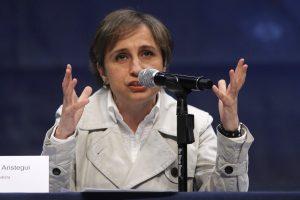 MVS dijo que como empresa no puede aceptar condicionamientos y ultimatos de sus colaboradores. En la imagen Carmen Aristegui. Foto: Notimex