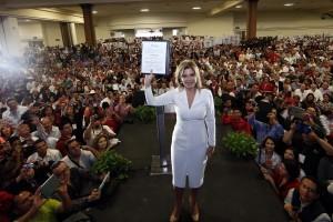 Claudia Artemiza Pavlovich Arellano, candidata del PRI a la gubernatura de Sonora. Foto: Notimex