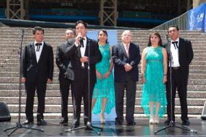 El acto de develación, estuvo presidido por el Coordinador Ejecutivo del Auditorio Nacional, Gerardo Estrada. Foto: Cortesía