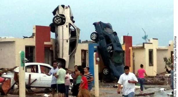 Tornado deja muerte y daños en Coahuila