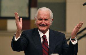 Carlos Fuentes murió el 15 de mayo de 2012 en la ciudad de México. Foto: AP