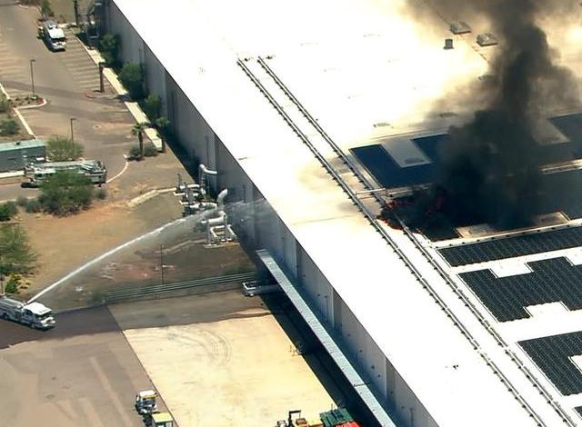 Controlado incendio en planta de Apple en Arizona
