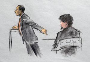 Tsarnaev recibió la noticia de la sentencia sin mostrar mayor emoción. Foto: AP