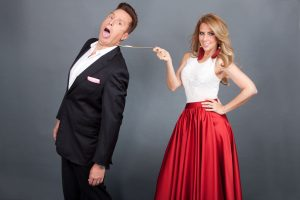 Daniel Bisogno y Raquel Bigorra prometen diversión familiar. Foto: Cortesía de TV Azteca