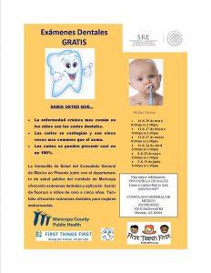Afiche promocional de las clínicas de salud del Consulado. Foto: Cortesía