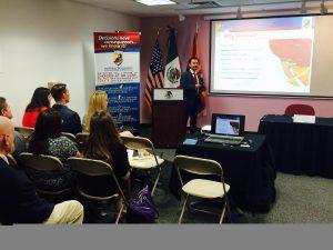 El seminario de negocios fue presentado por la Comisión de Desarrollo Industrial de Mexicali y el Consulado General de México en Phoenix. Foto: Mixed Voces