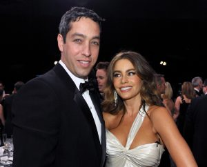 """FILE - In this Jan. 27, 2013, file photo Nick Loeb, left, and Sofia Vergara pose in the audience at the 19th Annual Screen Actors Guild Awards at the Shrine Auditorium in Los Angeles. Vergara's former fiance Loeb said in op-ed he's written that he sued the """"Modern Family"""" star to protect their frozen embryos because he longs to become a parent and doesn't want the """"two lives"""" he created to """"be destroyed or sit in a freezer until the end of time.""""(Photo by John Shearer/Invision/AP, File)"""