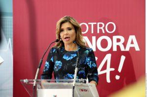 Claudia Pavlovich, candidata del PRI a la gubernatura de Sonora. Foto: Agencia Reforma